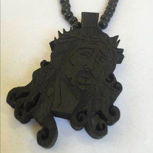 Accessories - Jesus Wood Pendent